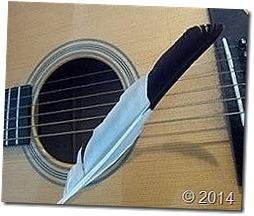 guitare-plume-écrire des chansons à deux